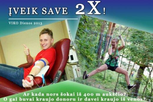 """Projektas """"Įveik save 2x!"""" kviečia priimti iššūkius """"VIKO dienose 2013"""""""