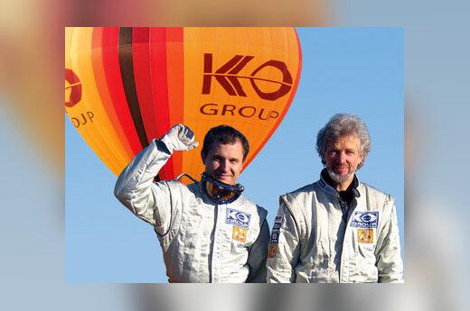 Vytautas Samarinas ir Vladas Vitkauskas, oro balionas