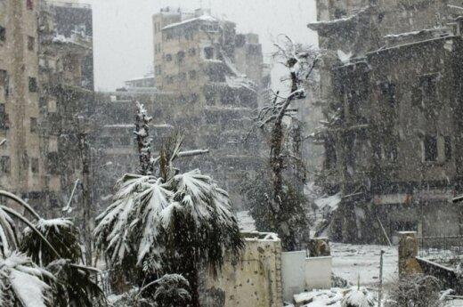 Sniegas Sirijoje