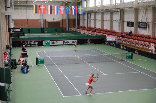 Moterų tenisas: Lietuva – Liuksemburgas / Foto: Saulius Jankauskas
