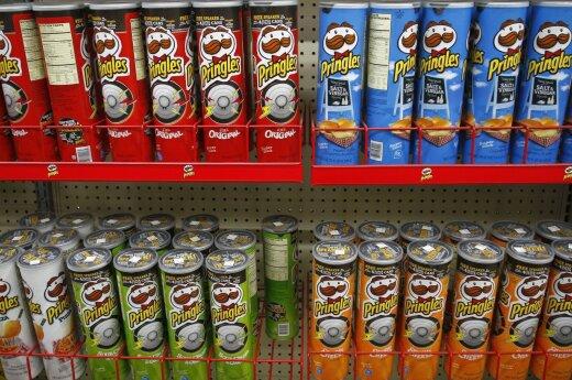 """Ekspertai: sunkiausia perdirbti """"Pringles"""" skardines"""