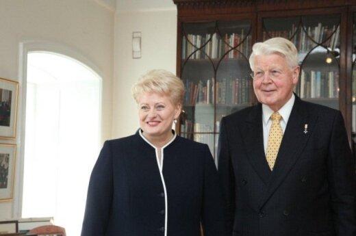 Dalia Grybauskaitė and Olafur Ragnar Grimsson