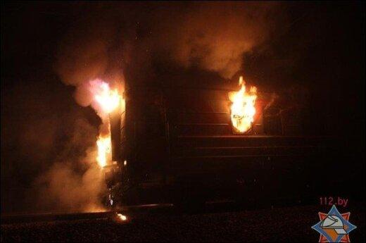 Российский поезд загорелся под белорусской Жабинкой