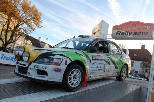 """Pirmąją ralio """"Saaremaa"""" dieną G. Notkus pakilo į 13-ą vietą"""