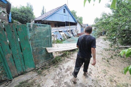 Potvynio išvargintas Rusijos Krymskas laukia pagalbos