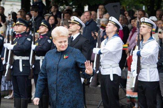 В День коронации Миндаугаса Грибаускайте призывала не забывать о единстве