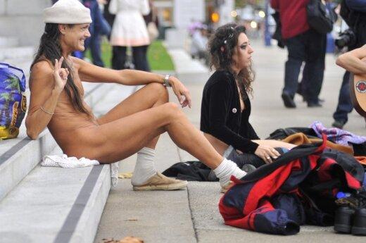 Австралийская пара разгуливала по Лондону нагишом