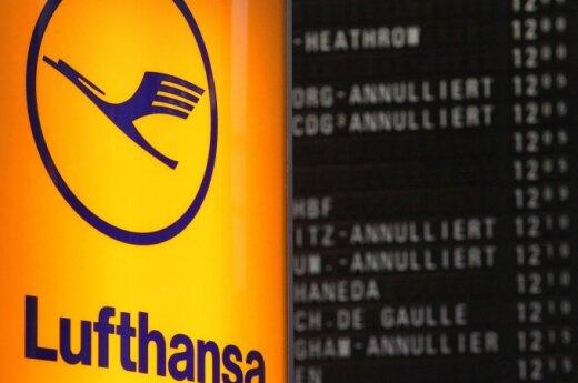 """""""Lufthansa"""" atšaukia skrydžius į Briuselį iki kovo 28 dienos"""