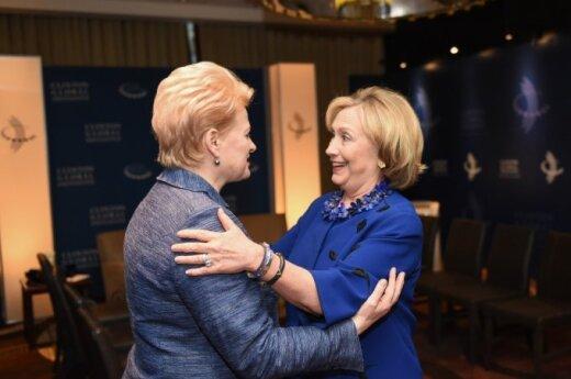 President Grybauskaitė met with Hillary Clinton