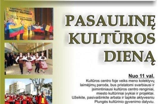 Plungės kultūros centre bus švenčiama pasaulinė kultūros diena