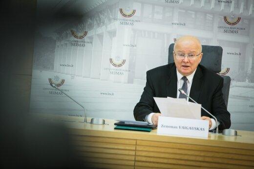 Z. Vaigauskas Seimo posėdyje turės atsakyti, ar neketina trauktis iš pareigų