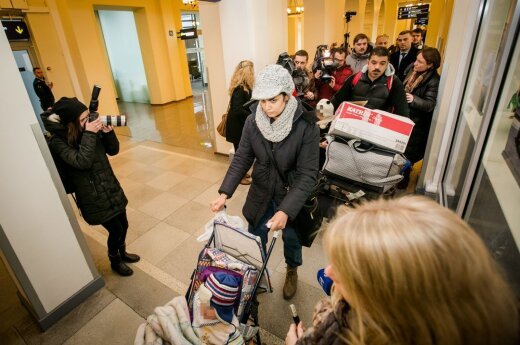 The first Iraqi refugee family arrived in Lithuania last December