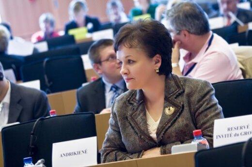 Л.Андрикене интересует возможность стать еврокомиссаром