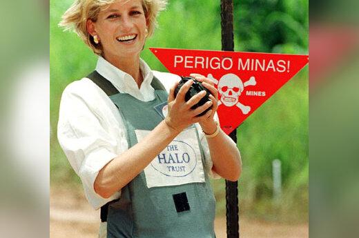 Princesė Diana minų lauke Angoloje