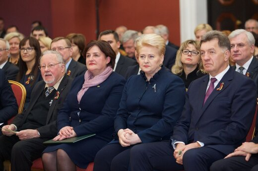 Vytautas Landsbergis, Loreta Graužinienė, Dalia Grybauskaitė, Algirdas Butkevičius