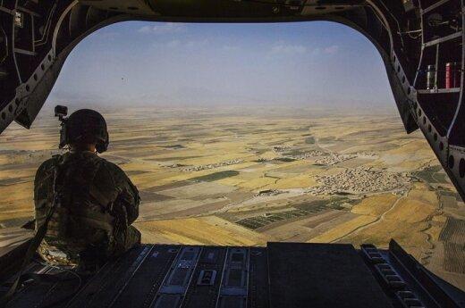 Lithuanian delegation visiting troops in Afghanistan