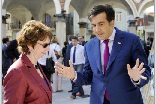 C. Ashton ir M. Saakašvilis