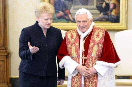 Dalia Grybauskaitė ir popiežius Benediktas XVI
