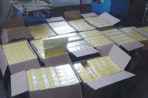 Нашли часть украденных в Панемуне контрабандных сигарет