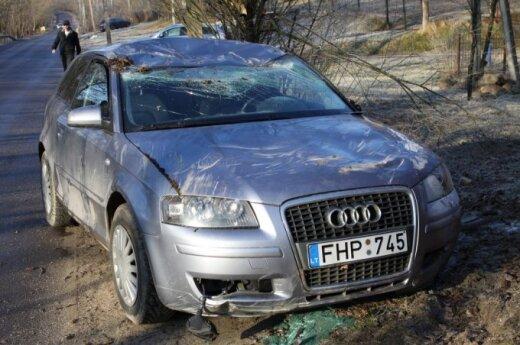 На скользких улицах Вильнюса утром было много аварий