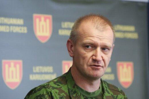 Commander of the Lithuanian Land Force Major General Almantas Leika