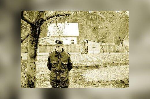 Prie nužudytojo S.Piskunovo sodo namelio