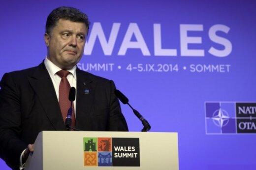 Ukraine's President Petro Poroshenko in Wales