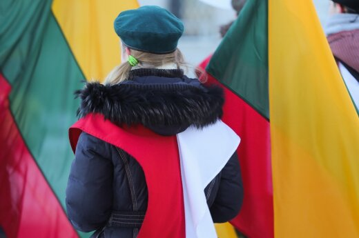 Polish and Lithuanian flags