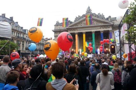 Reportažas iš Briuselio: miestas nusidažė vaivorykštės spalvomis