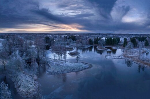 Žiema nuo Biržų bokšto