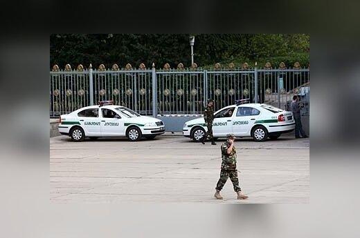 грузинские полицейские в Тбилиси