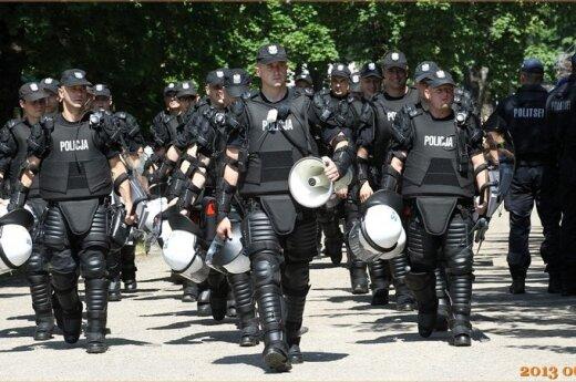 Polska policja na meczu w Wilnie... a może nikt nie przyjechać