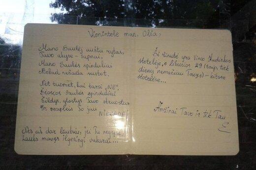 Mylimo žmogaus paieškos - Vilniaus stotelėse