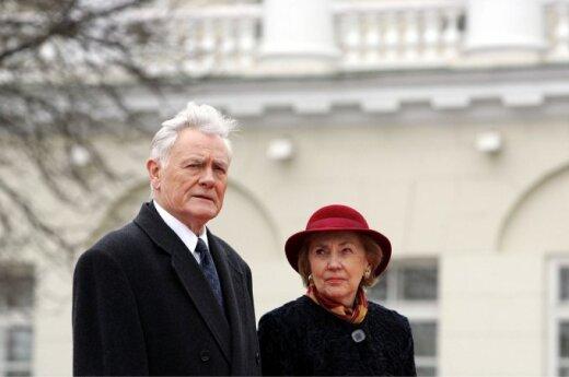 Valdas Adamkus and his wife Alma Adamkienė