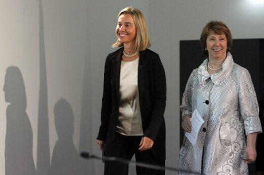 Federica Mogherini, Catherine Ashton