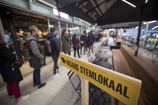 Olandai renka parlamentą, Europos Sąjungai – pirmas rimtas išbandymas šiais metais