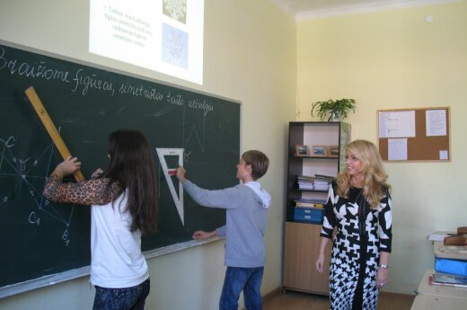 At a school in Lithuania