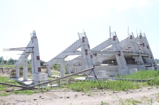 The abandoned construction site of what was to be the National Stadium