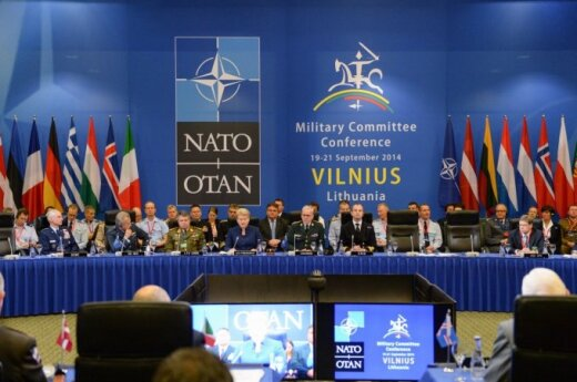 NATO chiefs of defense discussing Eastern European defence in Vilnius