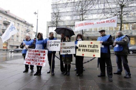 Против увольнений протестовали энергетики