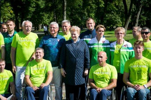 President Grybauskaitė among members of Team Lithuania