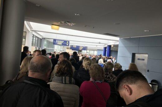 Chaos at the Vilnius air port