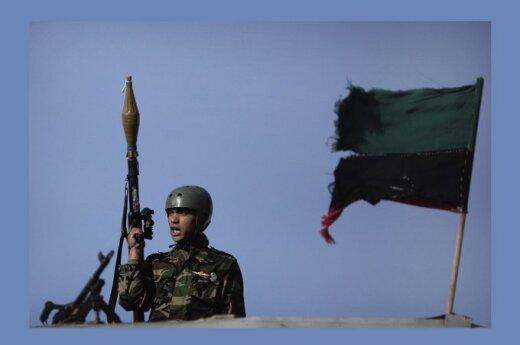 M. Gaddafi pajėgų karys