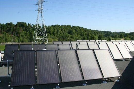 Pradėta eksploatuoti didžiausia saulės energijos sistema