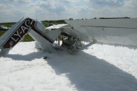 Biržuose nukrito lėktuvas