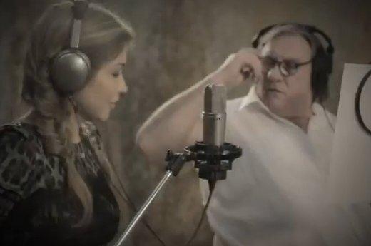 Депардье и дочь президента Узбекистана спели дуэтом (ВИДЕО)
