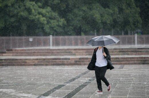 В воскресенье ожидается дождливая погода