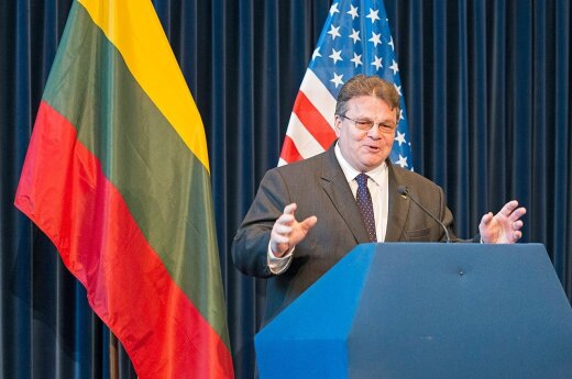 Foreign Minister Linas Linkevicius speaking at the Ronald Reagan Presidential Library  Photo Ludo Segers