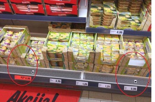 """""""Lidl"""" pirkėją nustebino akcija sūriui: nuolaidos ženklo nėra – kaina ta pati"""