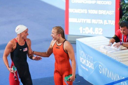 R. Meilutytė Barselonoje pagerino Europos 100 m plaukimo krūtine rekordą